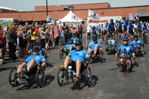 Snap-on Incorporated hosts Soldier Ride at its corporate headquarters in Kenosha, WI