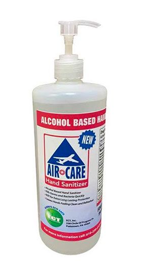 ECT Introduces AirCare Alcohol-Based Hand Sanitizer