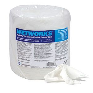 Introducing WetWorks® Pre-Saturated Cleaning Wipes