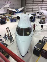 West Star Aviation Nears Completion of Hawker 800A Wing Replacement